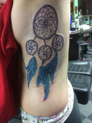 Azul-penas dreamcatcher design