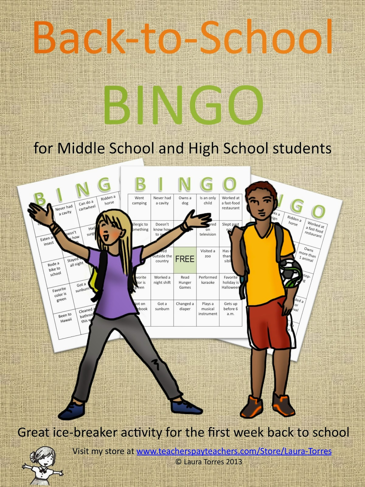 Composition Classroom Back To School Bingo Ice Breaker