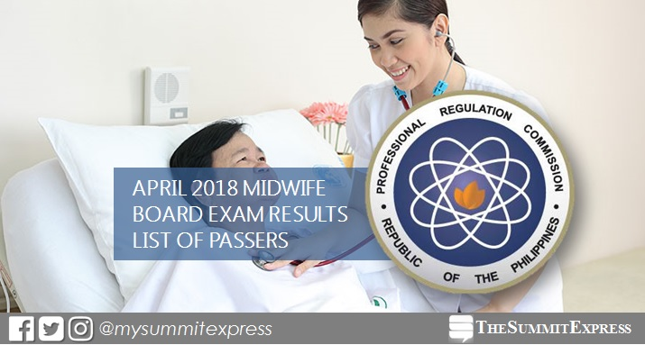 FULL RESULTS: April 2018 Midwife board exam passers list, top 10