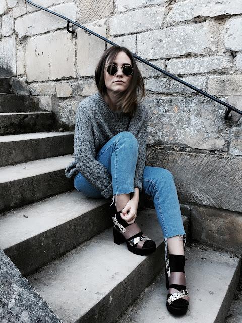 gris pull selection shopping autumn women femme mode ootd look style zara hm asos pull&bear fashion
