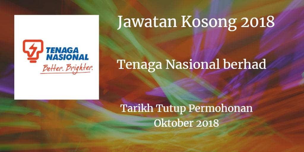 Jawatan Kosong TNB Oktober 2018