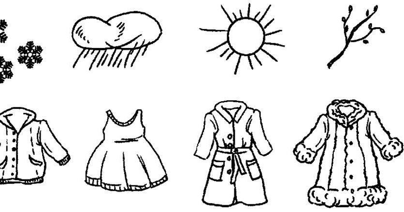 Одежда весной картинки для детей раскраски