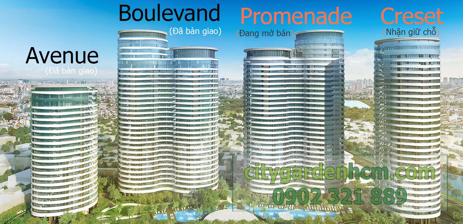 bán căn hộ tại tháp Promenade - khu căn hộ city garden