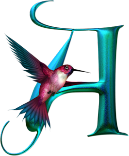 Abecedario de Colibrí. Hummingbird Alphabet.
