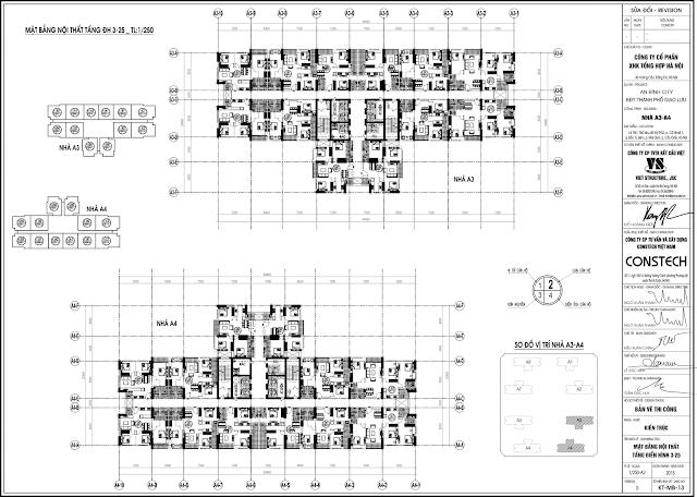 mặt bằng tòa A3 - A4 dự án an bình city