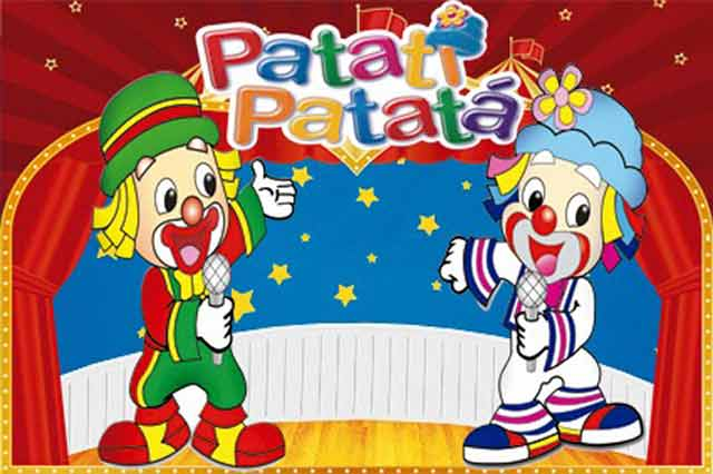 Painel de impressão digital para a decoração do Patatí Patatá