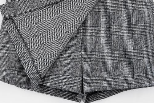 Checkered Belted Skort
