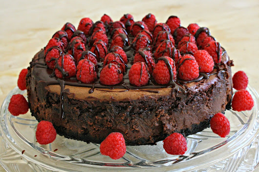 Dark Chocolate Raspberry Mousse Cheesecake