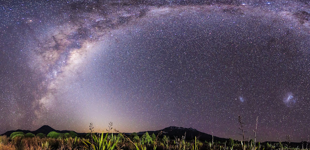 Milky Way Central Plateau mountains