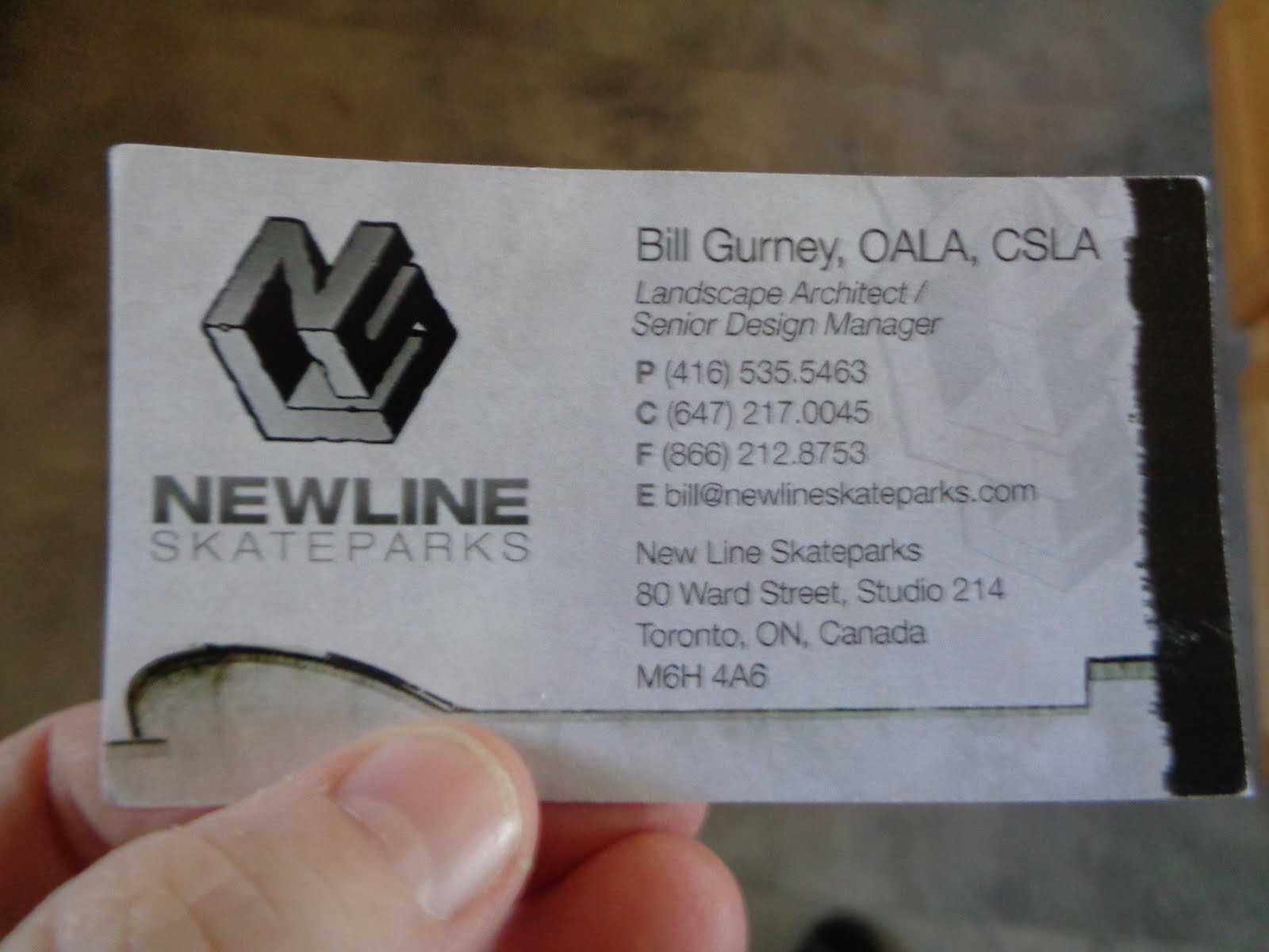 New Line Skateparks - Bill Gurney