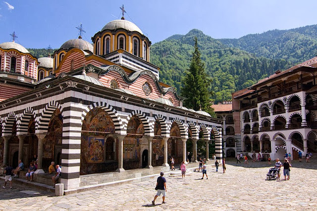 The 10th-century Rila Monastery was founded by Saint Ivan of Rila but built by his students. Photo: WikiMedia.org.