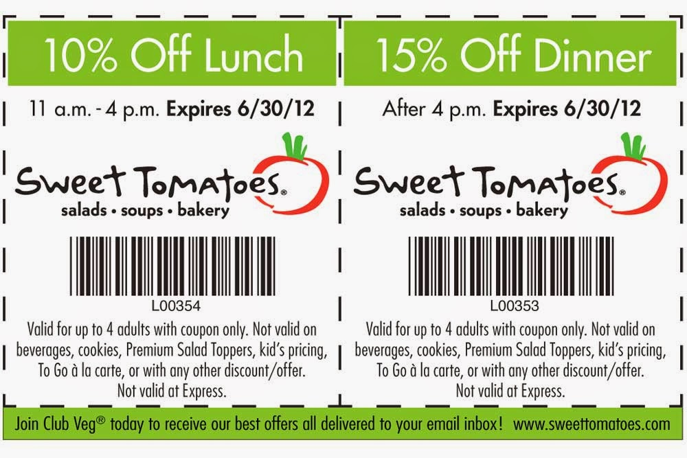 photograph relating to Sweet Tomatoes Printable Coupon identify Lovable tomatoes coupon code 2018 / Thick high-quality gl coupon