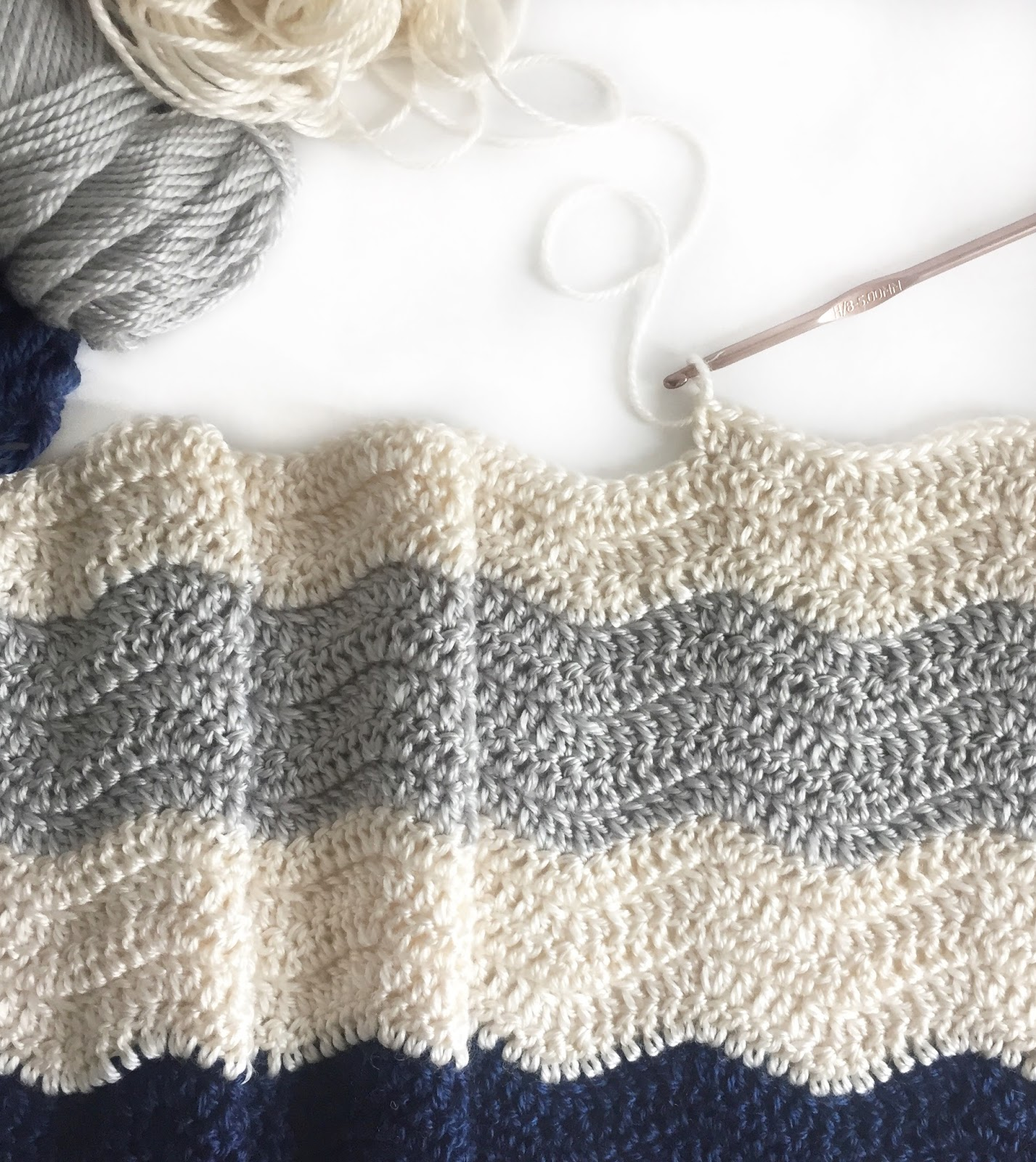 How To Crochet A Ripple Blanket Daisy Farm Crafts
