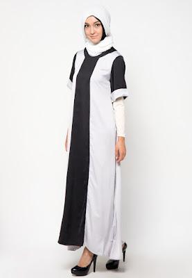 Model Gamis Mewah Muslimah A Line Abaya