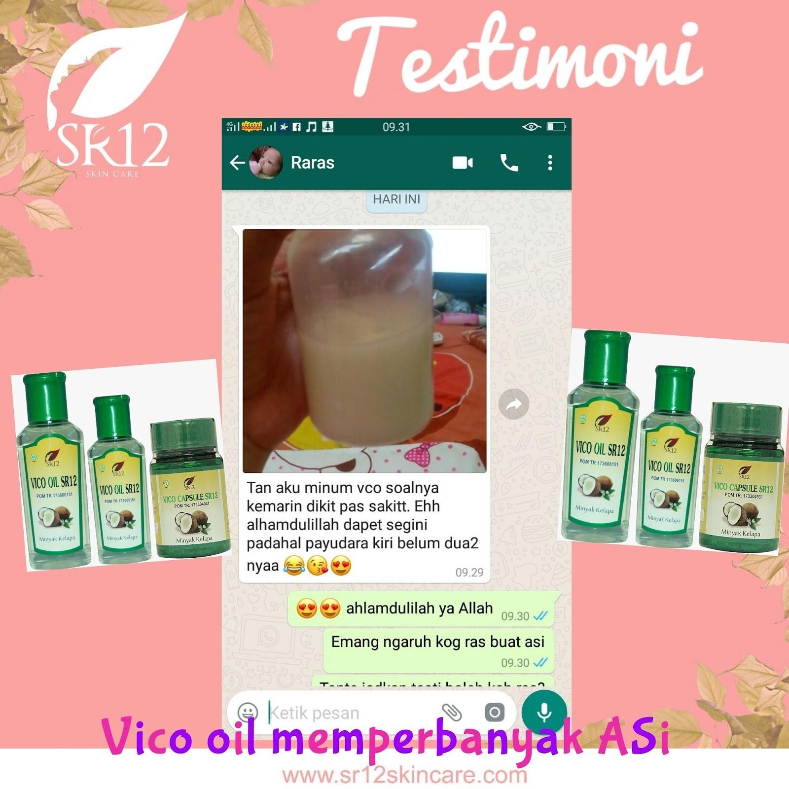 Sr12 Herbal Skincare Jakarta Manfaat Vico Oil Vco Untuk Ibu Salimah Slim Hamil Dan Menyusui