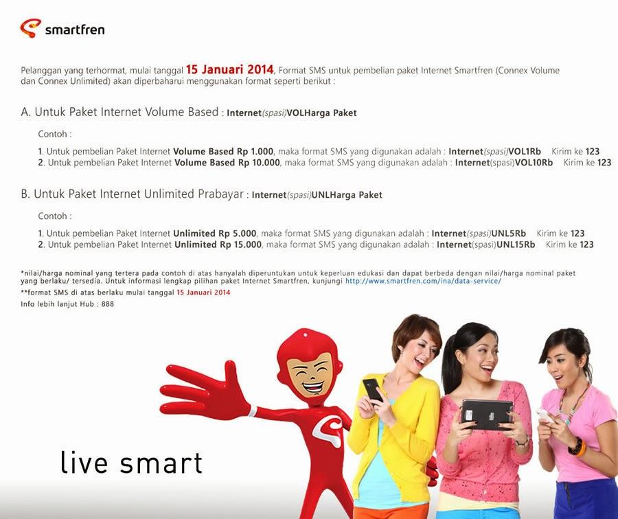 Daftar Harga Paket Internet Smartfren Harian Terbaru 2014
