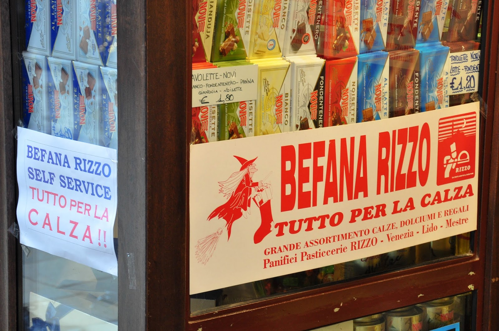 Befana, Shop window, Venice, Italy