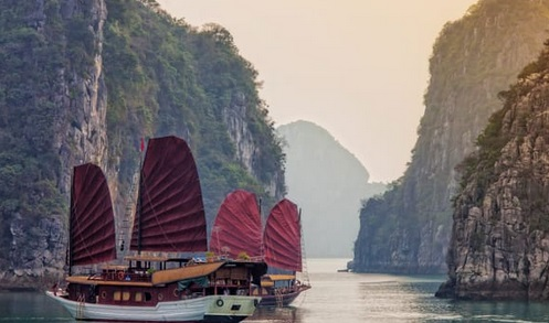 cruising in halong bay vietnam