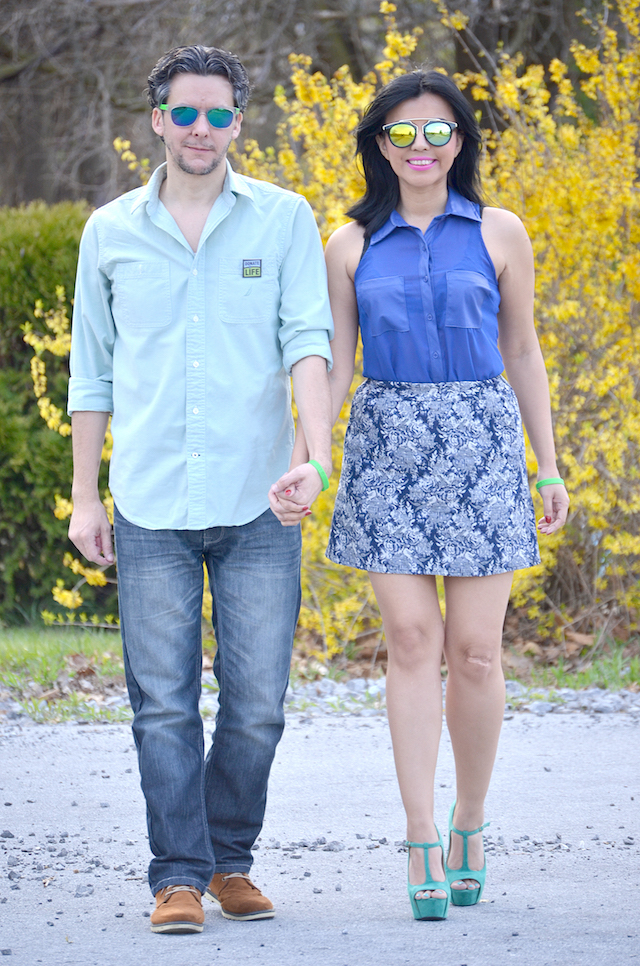 BLUE AND GREEN DAY -MariEstilo-DoneVida-Donate Life- ArmandHugon-Donación de órganos y Tejidos- Blogger Style