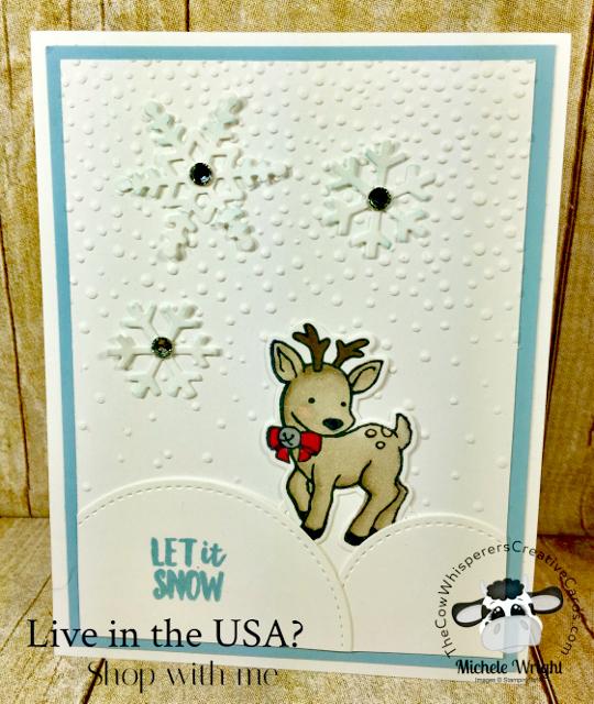 Card, Seasonal Chums, Softy Falling Embossing Folder, Stampin Blends