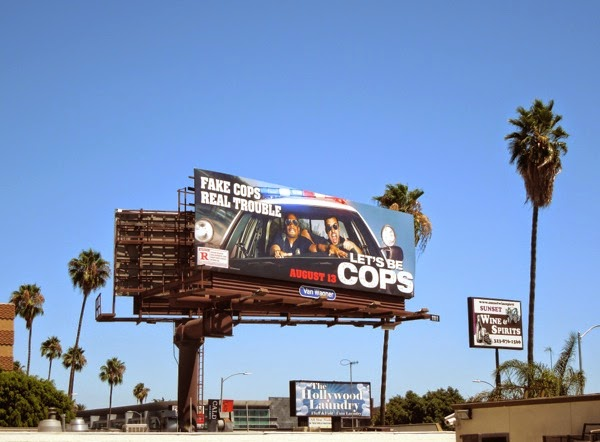 Let's Be Cops billboard ad