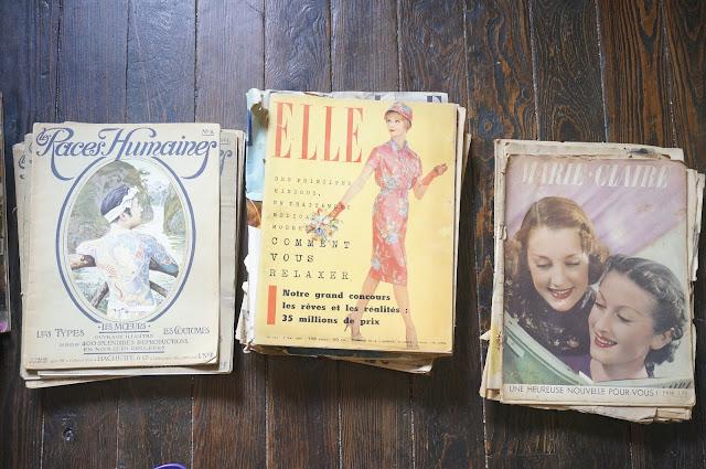 des magazines de 1910 , 1940 et 1960  1910s , 1940s , 1950s mags  races humaines elle marie claire