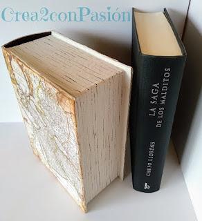 Caja-libro-cartonaje-y-decoupage-hojas-marcadas-Crea2-con-pasión