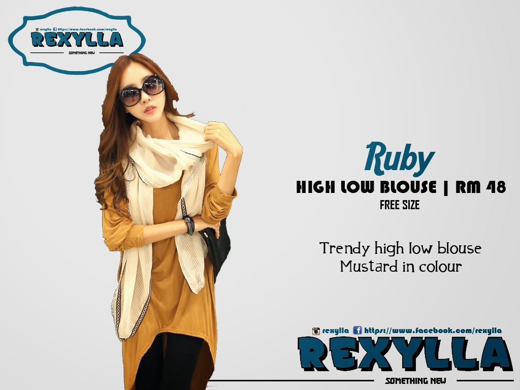 rexylla, high-low blouse, ruby collection