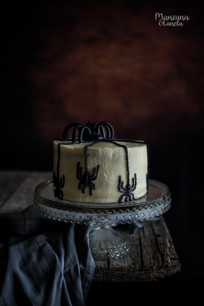 Tarta de cacao y calabaza. Receta para Halloween