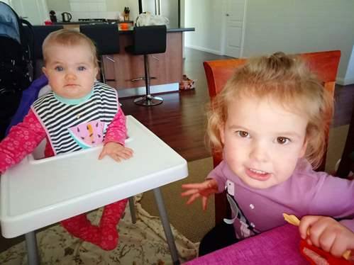 The grandgirls visiting