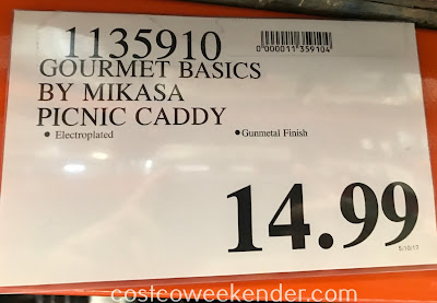 Deal for Gourmet Basics by Mikasa Buffet and Picnic Caddy at Costco