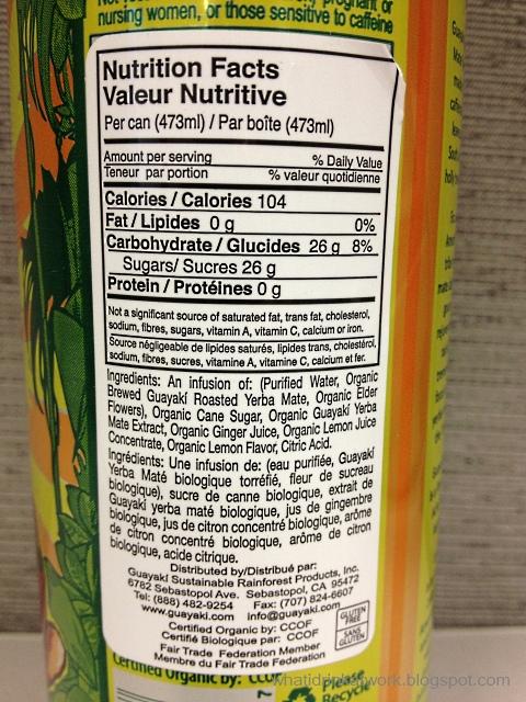 Nutrition News: guayaki yerba mate nutrition facts