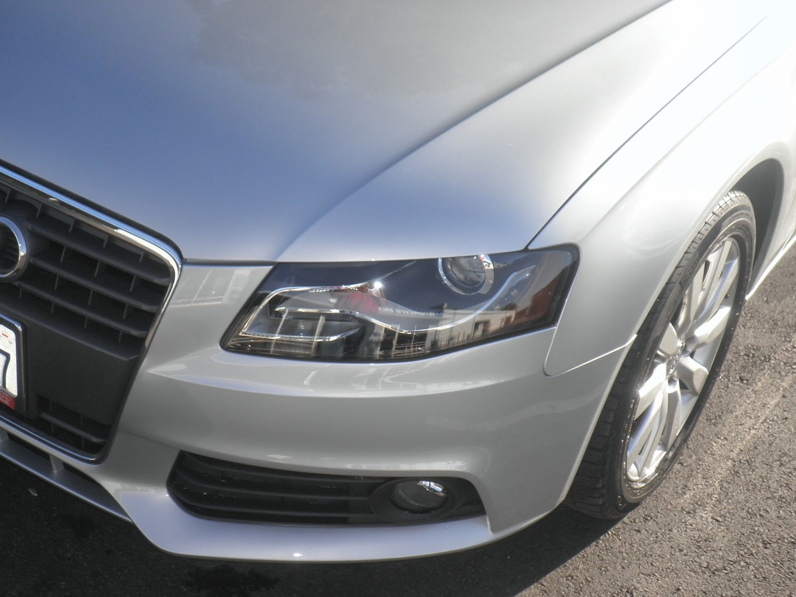 Audi A4 after collision repair at Almost Everything Auto Body