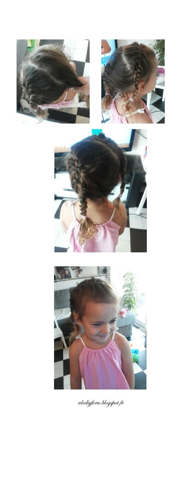 coiffure enfant pour ecole tresses