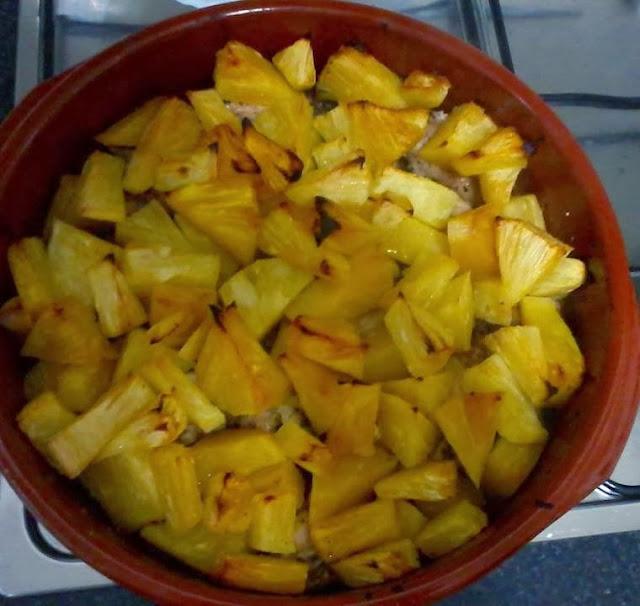 Receita de frango assado com abacaxi