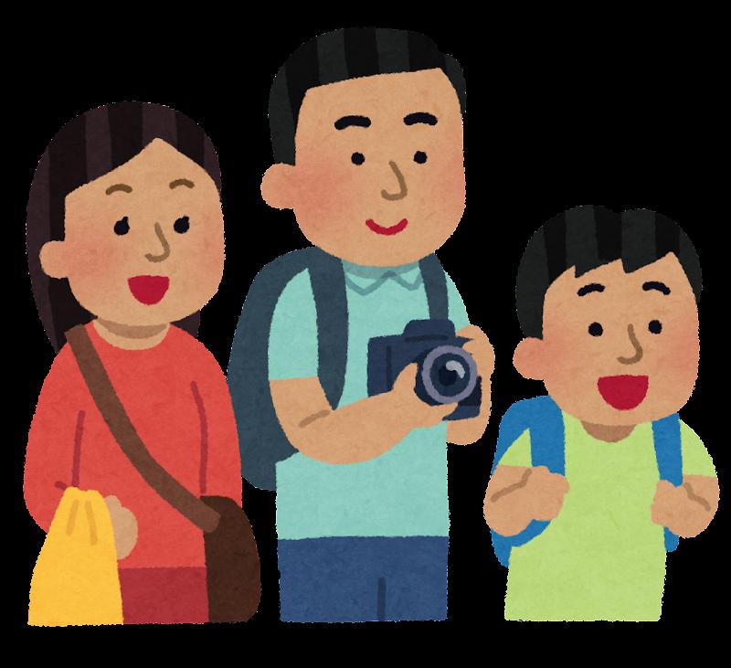 外国人観光客のイラスト東南アジア人 かわいいフリー素材