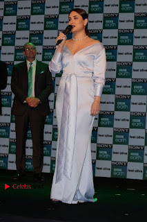 Bollywood Actress Kareena Kapoor Stills in Beautiful Silk Long Dress at Sony BBC Earth New Channel Launch  0010.jpg