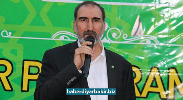 DİYARBAKIR-HÜDA PAR Genel Başkan Yardımcısı Mehmet Hüseyin Yılmaz partisinin Diyarbakır Kayapınar ilçe teşkilatının düzenlediği iftar yemeğine katıldı.