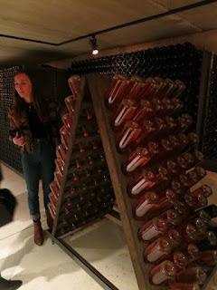 Henry of Pelham Sparkling Wine Disgorging