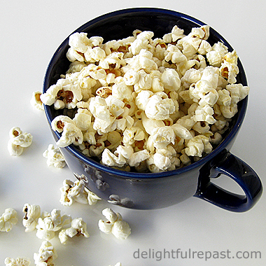 Perfect Popcorn - Crunchy Caramel Corn - Popped with Clarified Butter! (this photo - Popcorn) / www.delightfulrepast.com