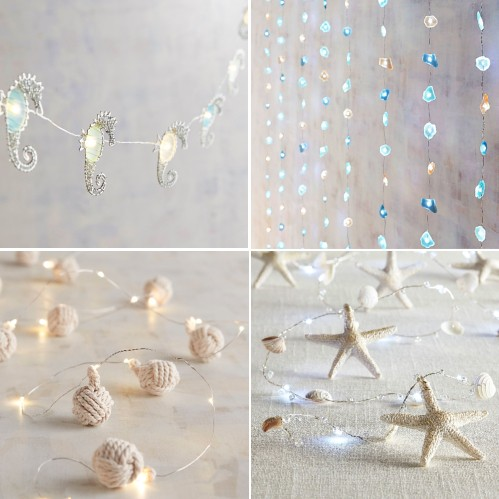 Coastal Beach Theme String Lights