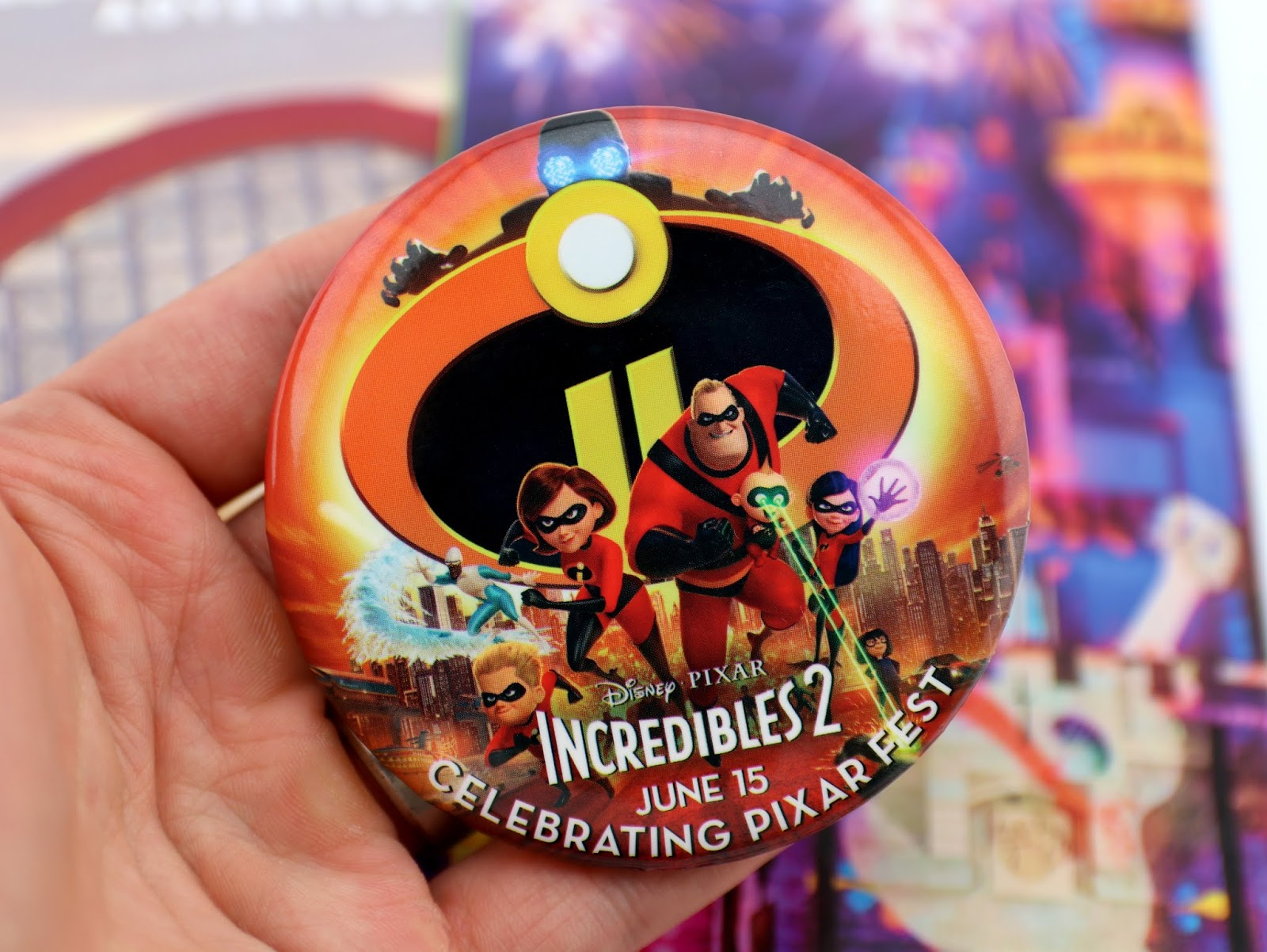 disneyland incredibles 2 release day promo button
