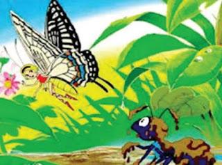 7 Contoh Teks Cerita Fabel Singkat Beserta Strukturnya 2019 (Kupu-kupu berhati mulia, dan Gambar)