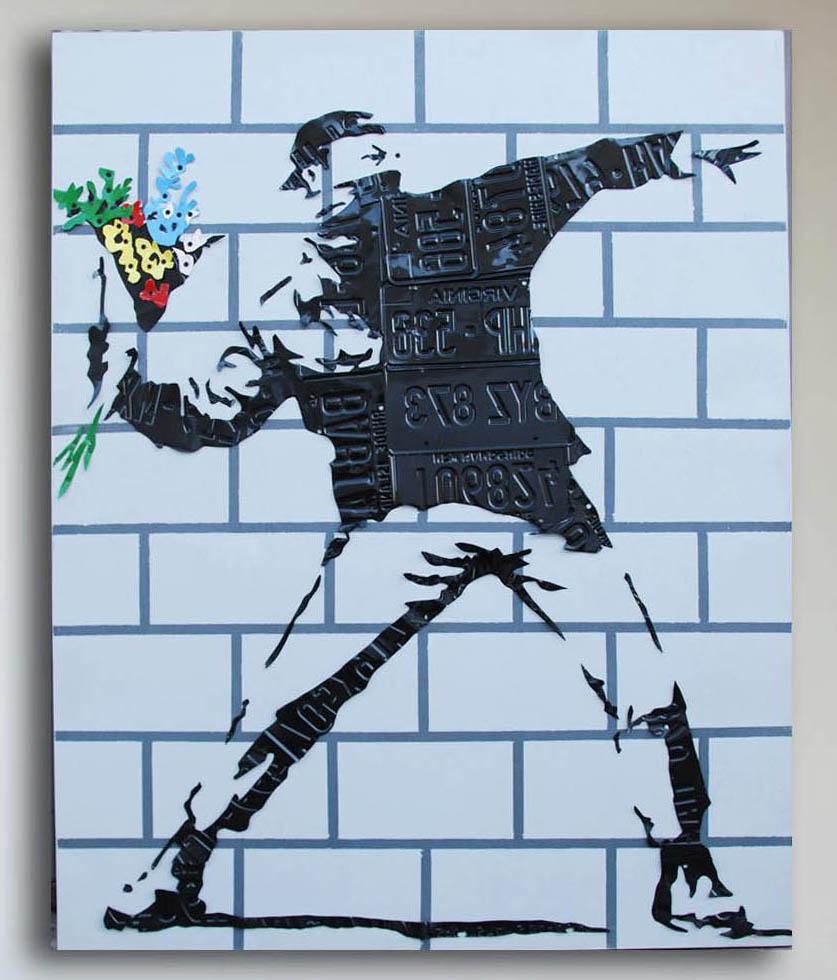 banksy flower thrower by michael kalish
