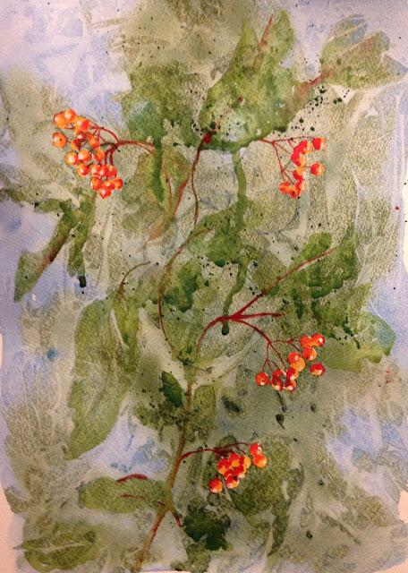 Saturday, 18th August 2018 - Campari Alternative, Watercolour Painting