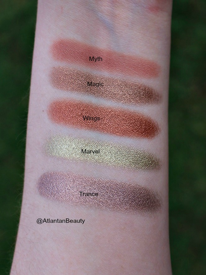 Tarte's Make Believe in Yourself Eyeshadow Swatches