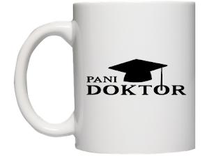 kubek pani doktor - prezent po obronie doktoratu