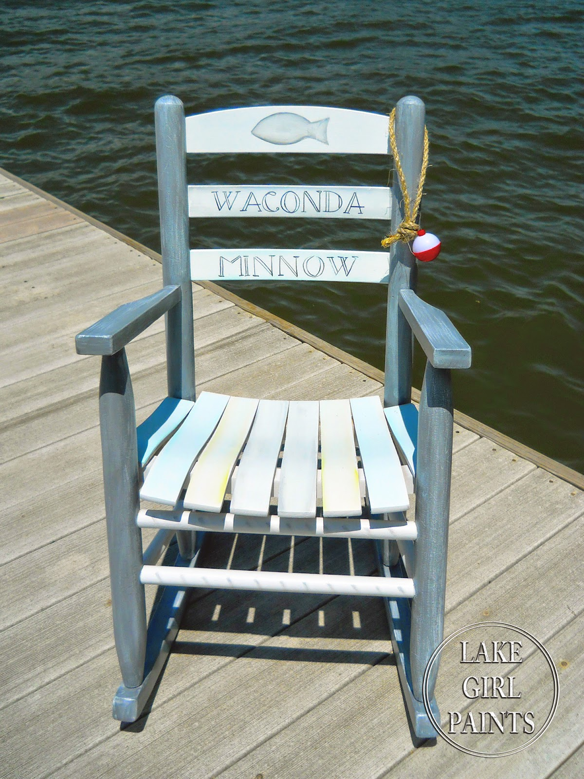 Lake Girl Paints Kid S Rocker Lake Style Paint Gray And