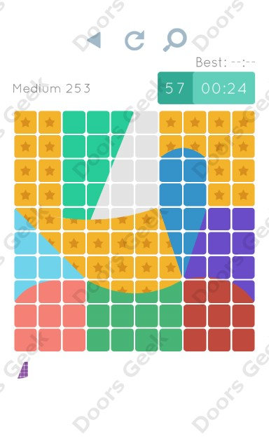 Cheats, Walkthrough for Blocks and Shapes Medium Level 253
