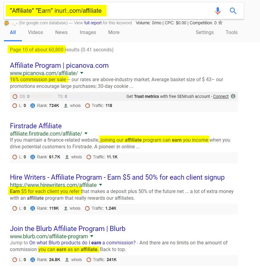 Secret Google Search Footprints for SEO & Internet Marketing